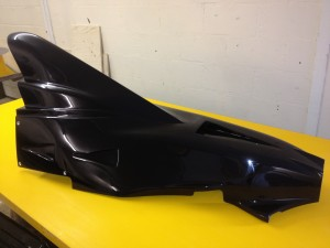 Automotive GRP racing car tail