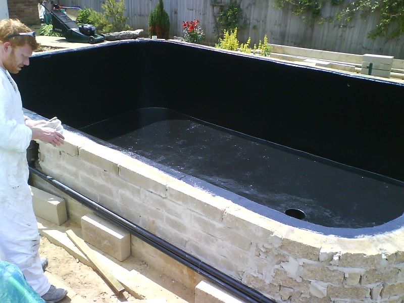 Fibreglass pond lining service for Koi pond liner